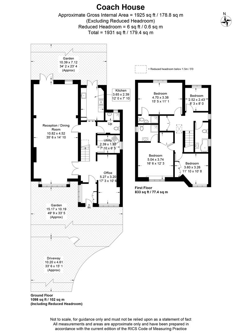 Floorplan for Windmill Road, Wimbledon